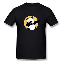 Lovely Panda Casual O-Neck Men's Basic Short Sleeve T-Shirt 100% Cotton Tee Shirt Printed how i met your mother casual o neck men s basic short sleeve t shirt 100% cotton tee shirt printed