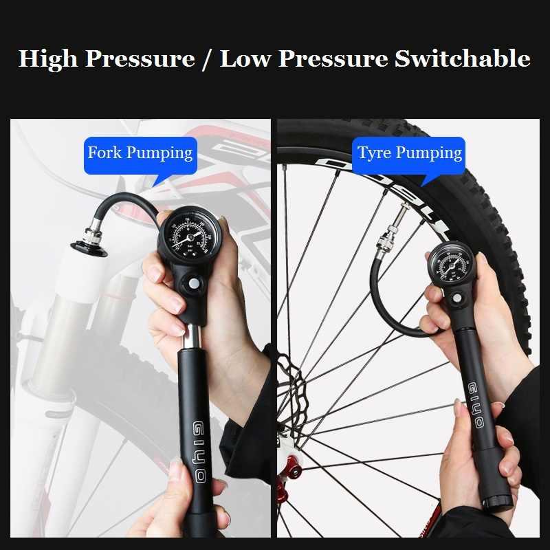 Shock pump Suspension fork,rear shocks Air Pump 300psi,MTB Bike Giyo GS02D