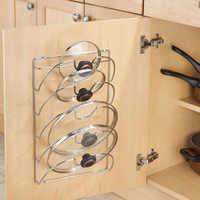 Кухонная настенная вешалка, полка для хранения крышки сковороды, настенное крепление для кастрюли, органайзер, держатель, кухонные аксессу...