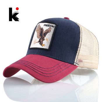 Baseball Caps Eagle Embroidery Hip Hop Hats Men Snapback Breathable Mesh Bones Fashion Streetwear Trucker Cap Women 1