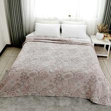 230x250cm super rei algodão gaze casa cobertor de cama bordado folha tv consolador casa roupa cama