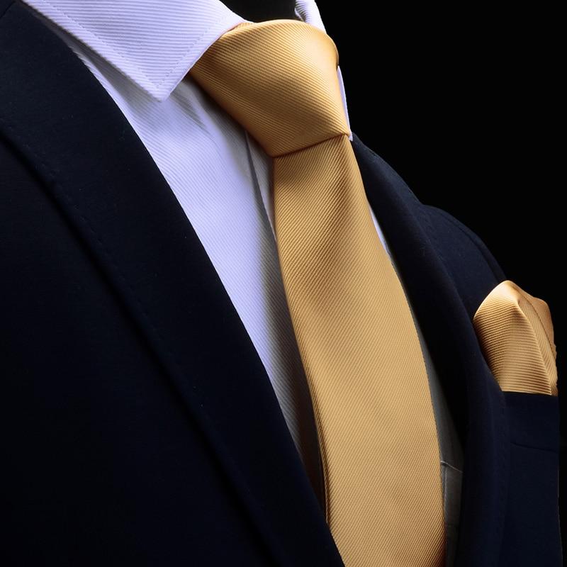Wedding Necktie Handkerchief Men Tie Red Solid Fashion Ties For Men Business 8cm Dropshiping Groom Neck Tie Pocket Square Set