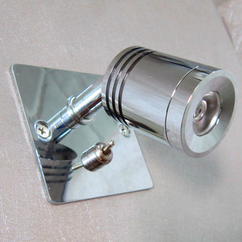 Topoch Recessed Wall Lamps Chrome Finish Discrete Driver Directional Head On-Off Switch for Hotel Residential Camper Marine