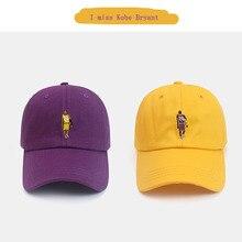 Baseball-Cap Snapback Kobe Bryant Embroidery Outdoor-Caps Casual-Hat Black Unisex No.-24-Cotton