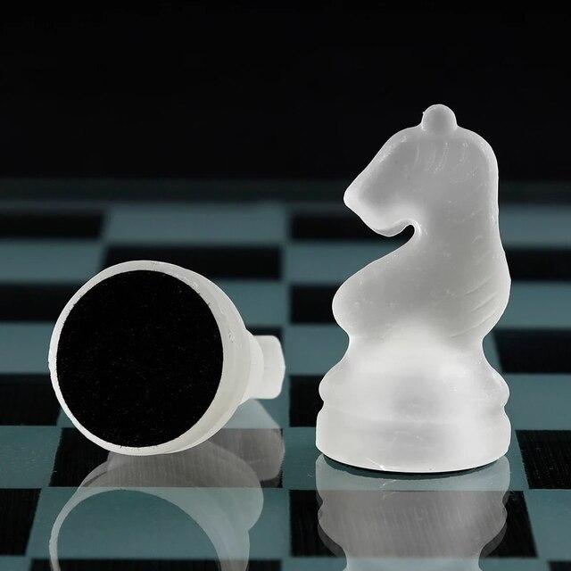 Jeu d'échecs grande taille 35CM en acrylique - aspect verre classieux 4