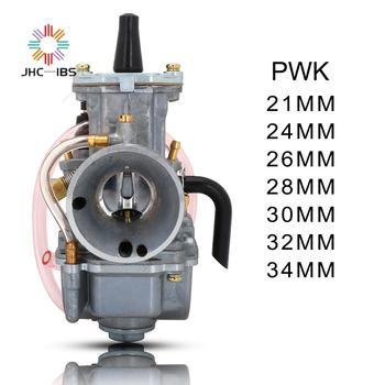 Carburador Universal para motocicleta, Carburador Universal de 21, 24, 26, 28, 30, 32 y 34mm, Cable Carb. Carreras Para Keihin Mikuni con Power Jet PWK
