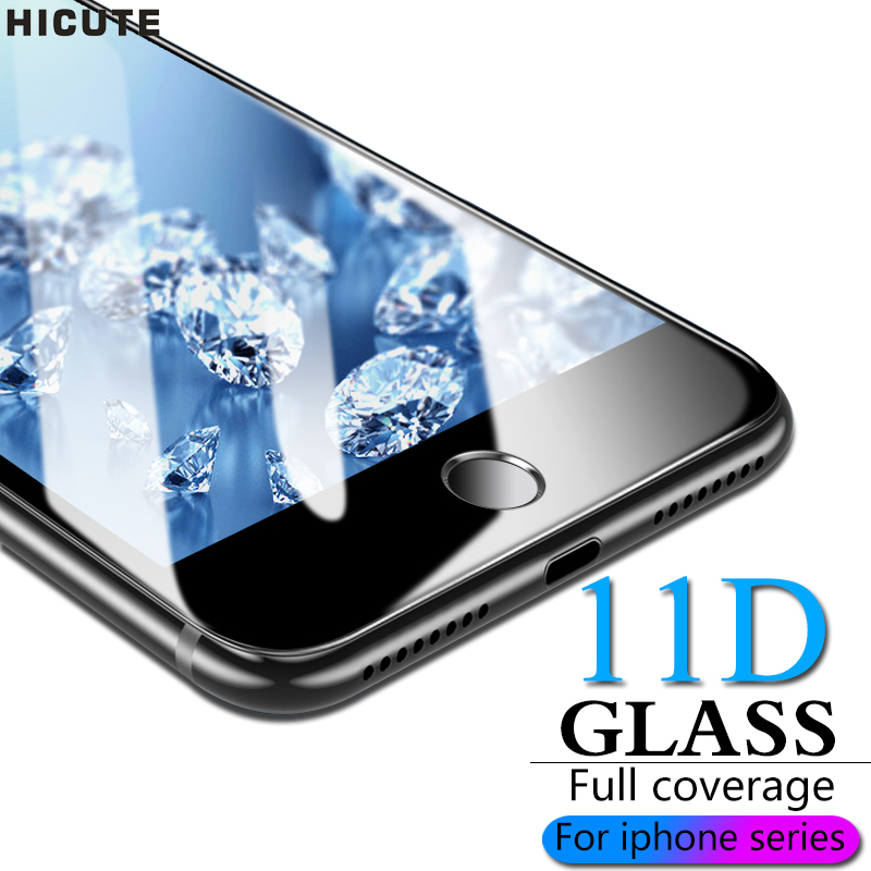 11D Protective Glass For IPhone 6 7 6S 8 Plus X XS MAX Glass On Iphone 7 6 8 X R XS MAX Screen Protector IPhone 7 6 8 Glass Flim