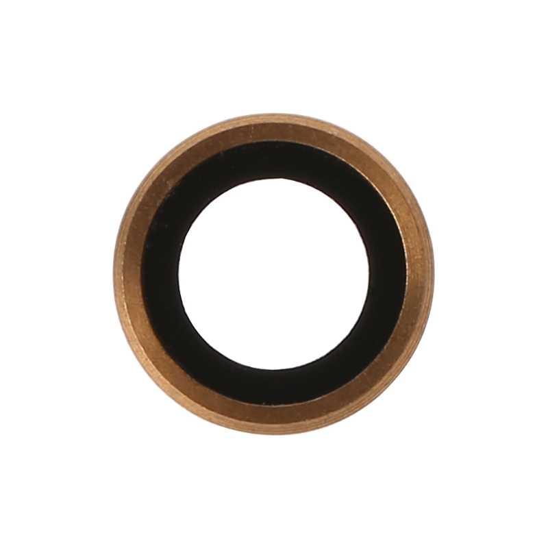 Emas Belakang Kamera Lensa Kaca Penutup dengan Bingkai Logam untuk iPhone 6 Plus 5.5 Inch Whosale & Dropship