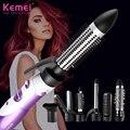 Электрический фен для волос, фен для волос, щипцы для завивки волос, вращающаяся щетка, фен, инструменты для укладки волос, профессиональная ...