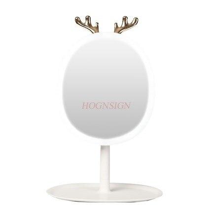espelho de maquiagem led desktop com luz