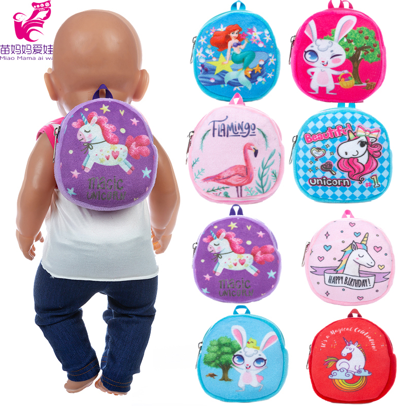 Dolls Bag Backpack Doll Accessories for 43cm Baby New Born Doll 18 Inch Doll Out Going Carry Bag Mini Cion Bag