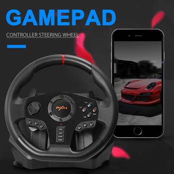 PXN V900 Game Steering Wheel for PS3 PS4 NS Switch Gaming Controller for  PC USB Vibration Dual Motor with Foldable Peda 1