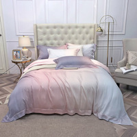 Luxury tencel Bedding Set soft Tencel Bed Linens Bed Sheet Set printed Bedclothes Queen/King Size Bed cover 4pcs