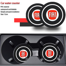 1/2 Pcs Auto Water Cup Fles Houder Anti-Slip Pad Mat Silica Gel Voor Fiat 500 500x ducato Tipo Panda Bravo Doblo Stilo Freemont(China)