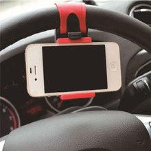 ユニバーサルカーホルダーミニエアーベントステアリングホイールクリップマウント携帯電話用 iphone のサポートブラケットスタンド