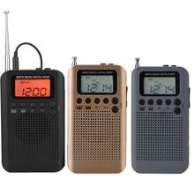 Draagbare Mini Radio Dual Band Am Fm Digitale Radio Stereo Radio Lcd scherm Digitale Tuning Pocket Radio Met Oortelefoon