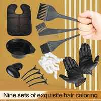 Juego de pinceles para tinte de pelo, accesorios de peluquería, pinzas para cubrir el pelo