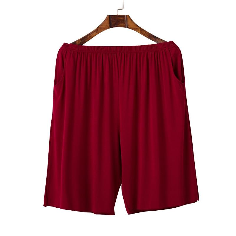 Ortega New Style Pink Fertilizer Plus-sized Women's Modal Cotton Oversized Capri Lard-bucket Pajama Pants Short 5 Pants