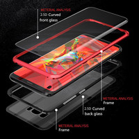 case samsung galaxy 360 Magnetic Double Tempered Glass Case for Samsung Galaxy S10 S9 Plus S10plus S8 Magnet Flip Cover for Samsung Note 10 10+ 9 8 (3)