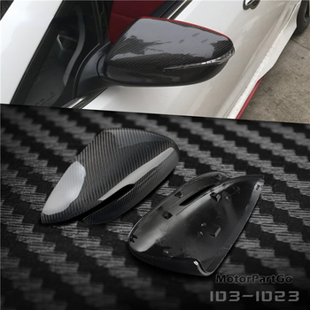 Real Crabon Fiber Mirror Cover Exchange original 1 pair for Kia K3 with turn signal 2014-2017 T250M 1