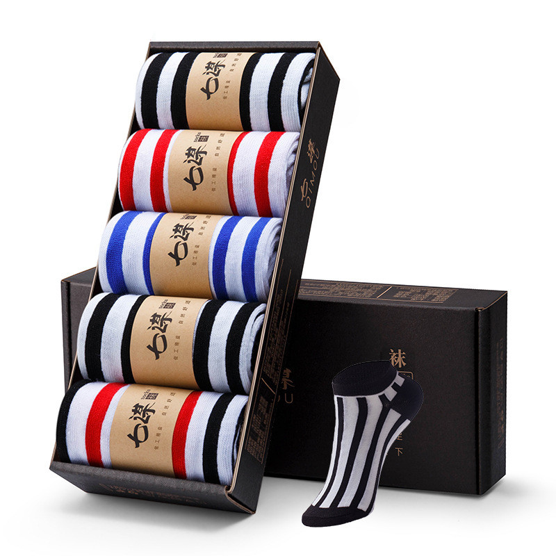 5 пар, качественные мужские носки, полосатые клетчатые алмазные носки с вишней, мужские носки из чесаного хлопка, Calcetines Largos Hombre