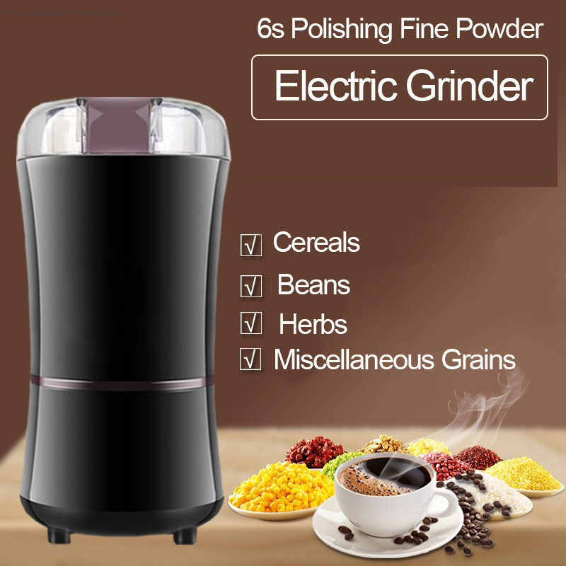 1000W Electric Coffee Grinder Multifunction Beans Spices Nuts Seed Grinding Machine Mini Powerful Kitchen Salt Pepper Grind Tool