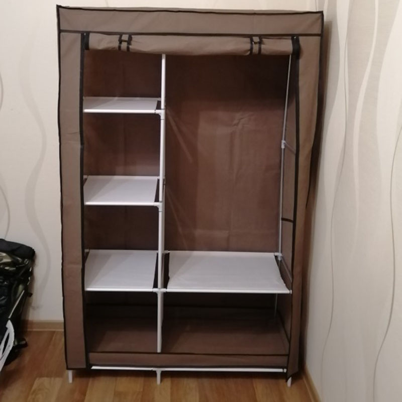 Image 5 - On Clearance Sale DIY Wardrobe Non woven Cloth Wardrobe Closet Folding Portable Clothing Storage Cabinet Bedroom Furniture-in Wardrobes from Furniture