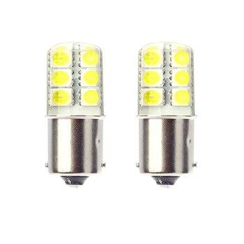 2018 newest led 1156 p21w ba15s led car light Silica gel smd COB automobile vehicle motorcylce brake tail park lamp 4