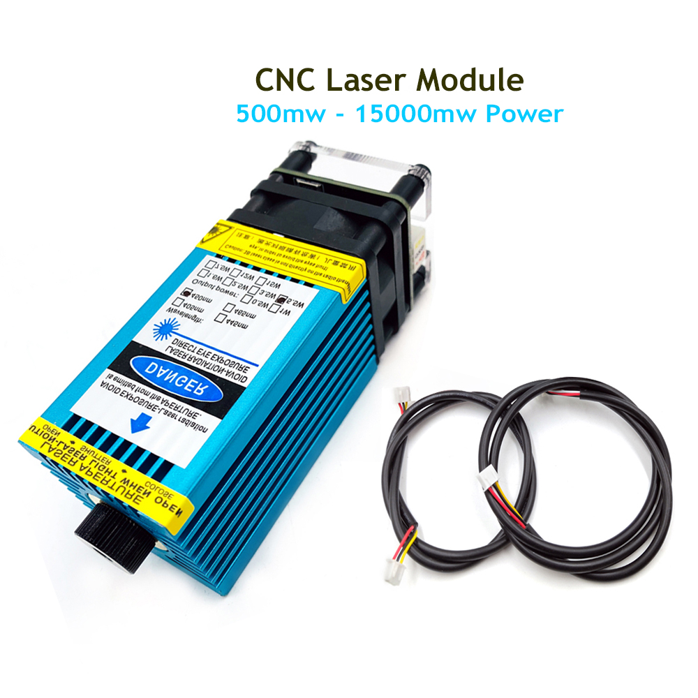 0.5W-15W Laser Adjustable Focus Laser Module For CNC Laser Engraving Machine Printer Cutting Wood Support PWM TTL Module Control