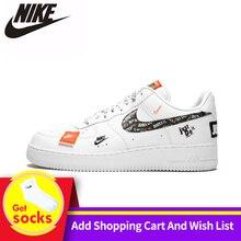 Nike Air Force 1 '07 Just Do It AF1 Новое поступление дышащая мужская обувь для скейтбординга низкие удобные кроссовки для мужчин# AR7719-100