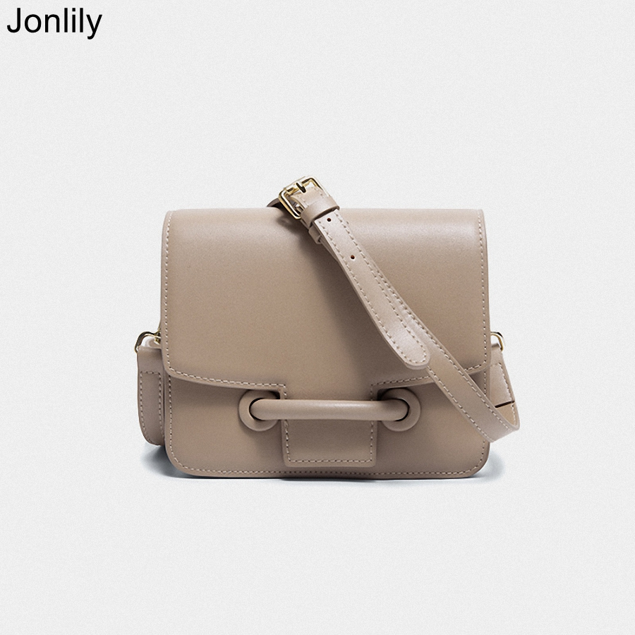 Jonlily Women Genuine Leather Shoulderbag Female Fashion Small Box Bag Elegant Crossbody Messenger Bag Teens Purse -KG269
