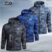 Ropa de pesca fina para hombre, chaqueta de pesca transpirable, abrigo de secado rápido, ropa de piel de camuflaje, camisa de pesca para exteriores, primavera y otoño