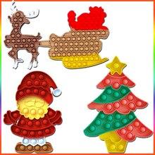 New Fidget Push Bubble Toys Adults Antistress Autism Vent Stress Reliver Children Fidget DIY Sensory Squeeze Christmas Gifts