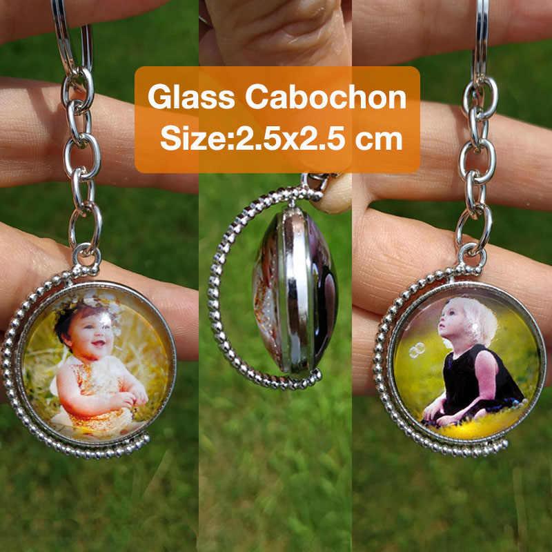 מותאם אישית Keychain מחזיקי מפתחות תמונה ללא דהוי מותאם אישית מפתח טבעת תמונה של שלך תינוק ילד אמא אבא משפחה אהב מתנה אחת