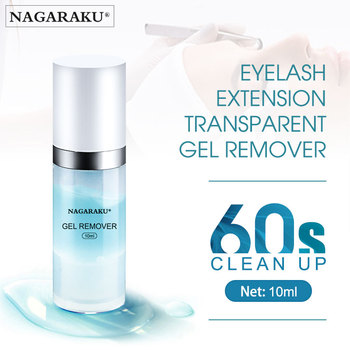 NAGARAKU eyelash extension gel remover fast clear up remover extended false eyelash decomposition adhesive eyelash glue недорого