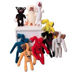Neue Heiße Verkauf Anime Sirene Kopf Plüsch Puppe Spielzeug Scary Sirenhead Katze Weichen Cartoon Kinder Junge Baby Mädchen Geburtstag geschenke