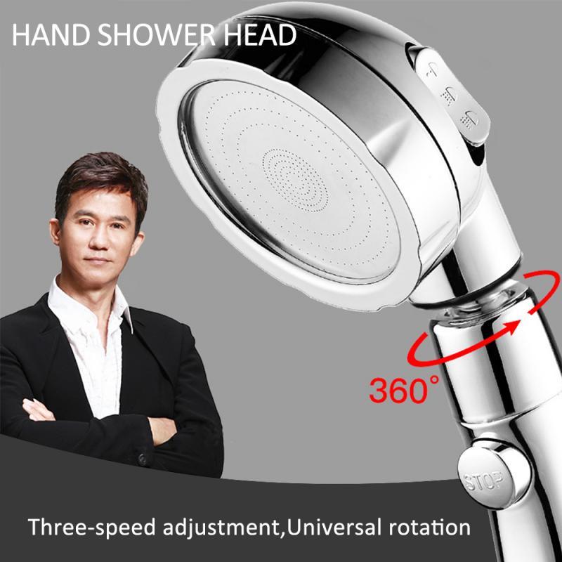 Bathroom Pressurized Adjustable Shower Bathroom Pressurized 360°Three-In-One Shower Hand Shower Head Hand-held Shower Sprinkler