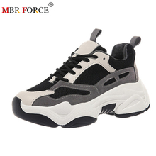 MBR FORCE Sneakers women spring platform flat shoes breathab