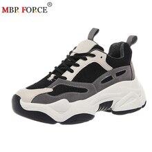 MBR قوة أحذية رياضية المرأة الربيع منصة حذاء مسطح تنفس أحذية نسائية عادية