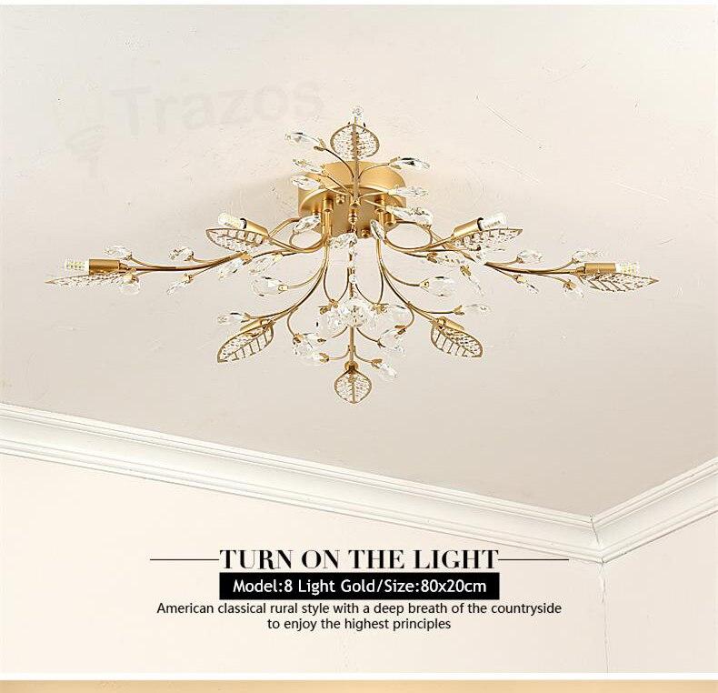 Hb039f264bb164fb9b529d28c60e44a70l TRAZOS New item fancy ceiling light LED Crystal ceiling lamp modern lamps for living room lights,AC110-240V DIY Crystal lighting