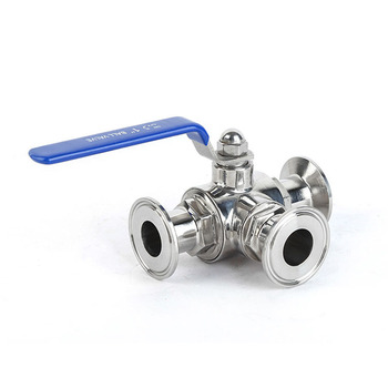 T-port 3/4 19mm 304 Stainless Steel Sanitary 3 Way Ball Valve 1.5 Tri Clamp 50.5mm Ferrule O/D For Homebrew Diary Product 2 stainless steel 304 tri clamp ferrule type sanitary pneumatic ball valve