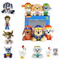 Nova quente 2018 genuína pata patrulha anime figura de ação filhote cachorro patrulla canina brinquedo crianças brinquedos de pelúcia boneca presente crianças brinquedo