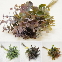 6 fork/bouquet eucalyptus money leaf simulation European diy artificial green plant fake flower material decorations