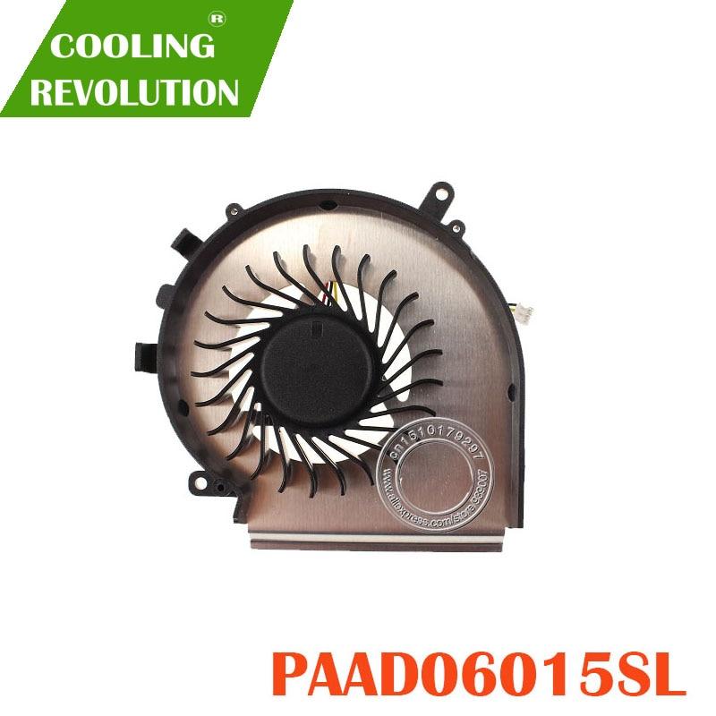 New CPU Cooling Fan For MSI GE72 GE62 PE60 PE70 GL62 GL72 PAAD06015SL 3pin 0.55A 5VDC N303