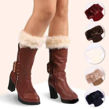 Lace Boot Socks Leg Warmers For Women Knit Boot Cuffs Winter Warm Short Boot Covers Boot Warmer Gaiters фото
