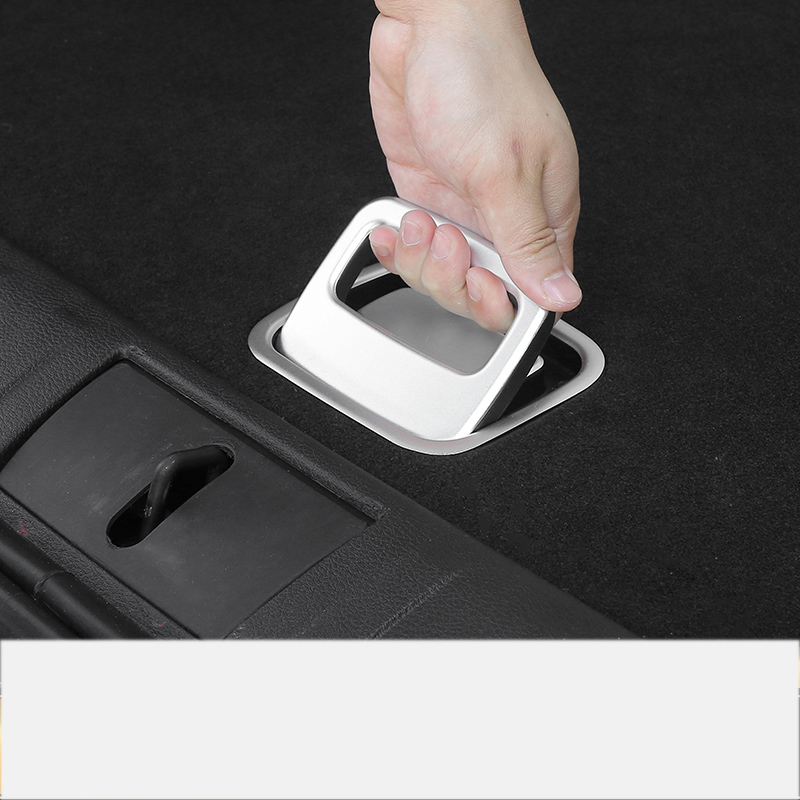 Lsrtw2017 Abs Aluminum Alloy Car Trunk Handle Tailgate switch Inner Trims for <font><b>Jeep</b></font> Renegade <font><b>Compass</b></font> 2016 2017 2018 <font><b>2019</b></font> image
