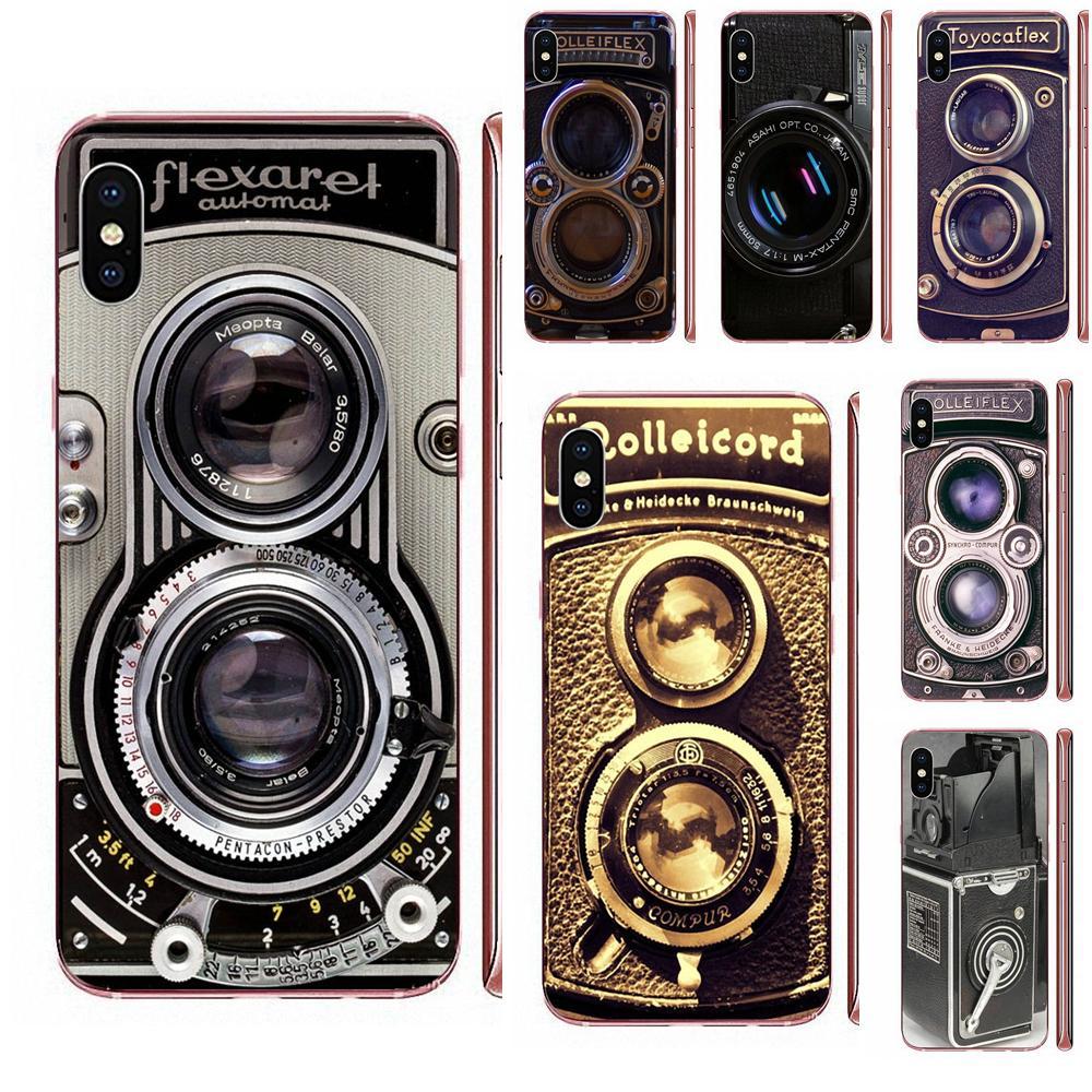 For LG K50 Q6 Q7 Q8 Q60 X Power 2 3 Nexus 5 5X V10 V20 V30 V40 Q Stylus Soft Case Mobile Rolleiflex Vintage Retro Camera