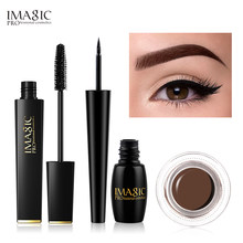 IMAGIC-ensemble de Mascara à sourcils imperméables et longs, Gel à sourcils professionnel, 6 couleurs