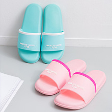 Whoholl Brand Slippers Summer Floor Skid Proof Home Indoor Family Stripe Flat Bathroom Bath Sandal Women