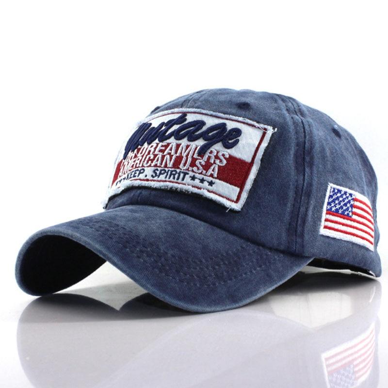4 Color Washed Cotton Baseball Cap Snapback Hat Men Women Retro Hip Hop Fitted Caps Casual Letter Casquette Gorra Hombre Bone